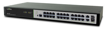 LUXUL - XMS-2624P  26 Port/24 PoE+ Gigabit Managed Switch