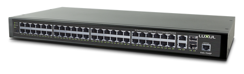 LUXUL - XMS-7048P  52-Port Stackable Gigabit PoE+ L2/L3 Managed Switch