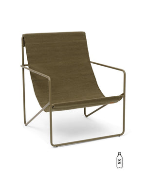 Ferm Living Desert Lounge Chair Olive/Olive