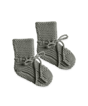 Quincy Mae Baby Knit Booties Eucalyptus