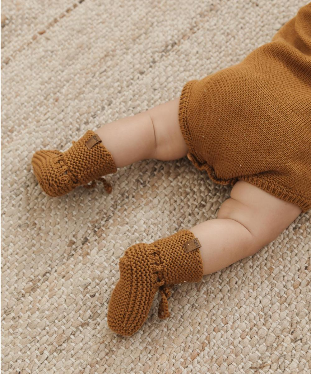 Quincy Mae Baby Knit Booties Petal