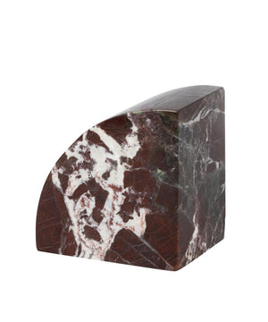 Stoned Marmeren Book End Burgundy