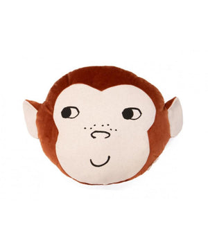 Nobodinoz Monkey Cushion Wild Brown