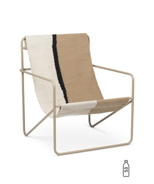 Ferm Living Desert Lounge Chair Cashmere/Soil