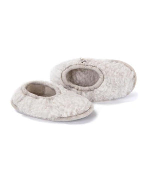 Wollen Slofjes Light Grey