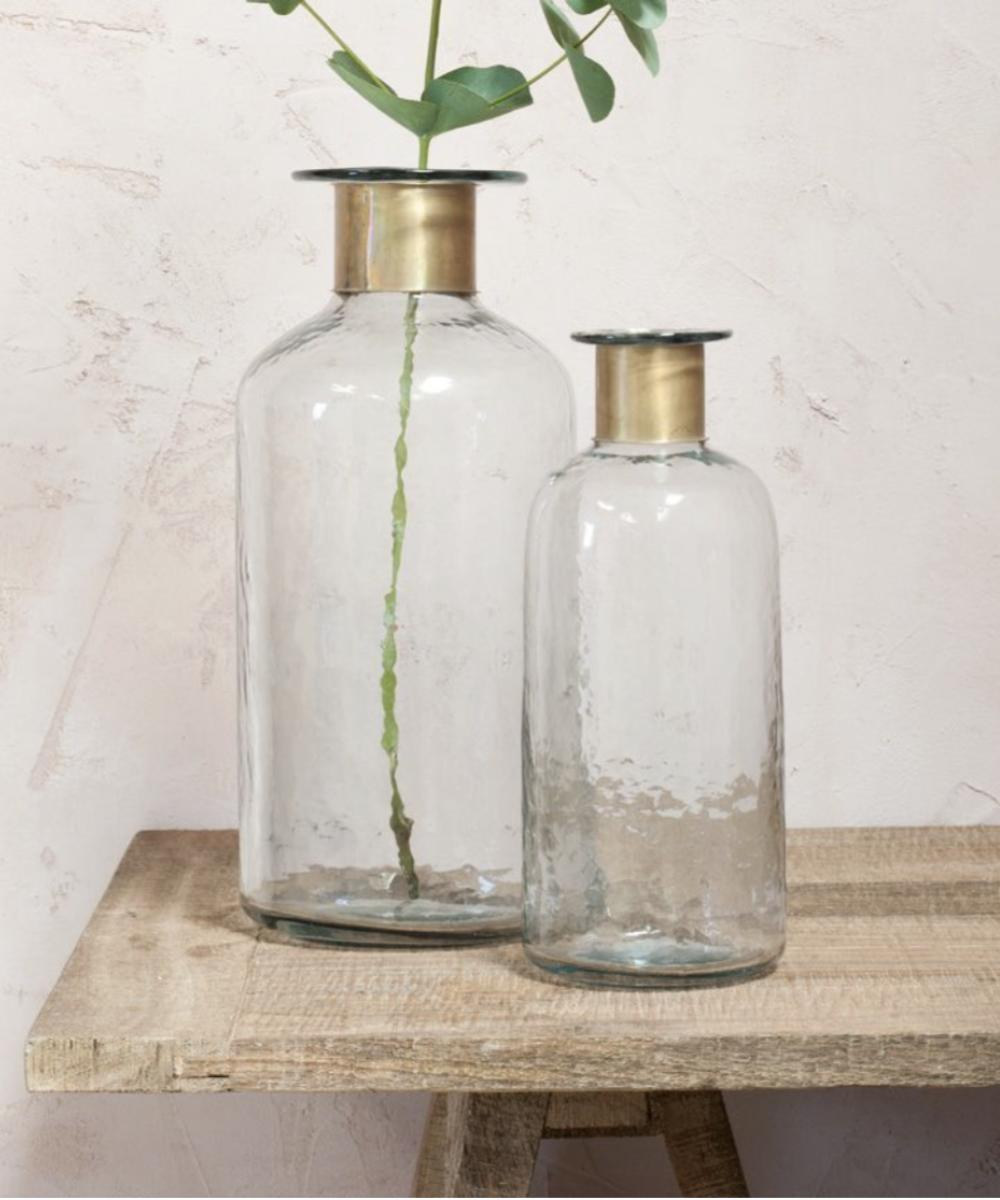 Nkuku Chara Hammered Bottle Vase