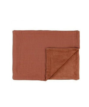 Les Rêves d'Anais Bliss Rust Fleece Blanket