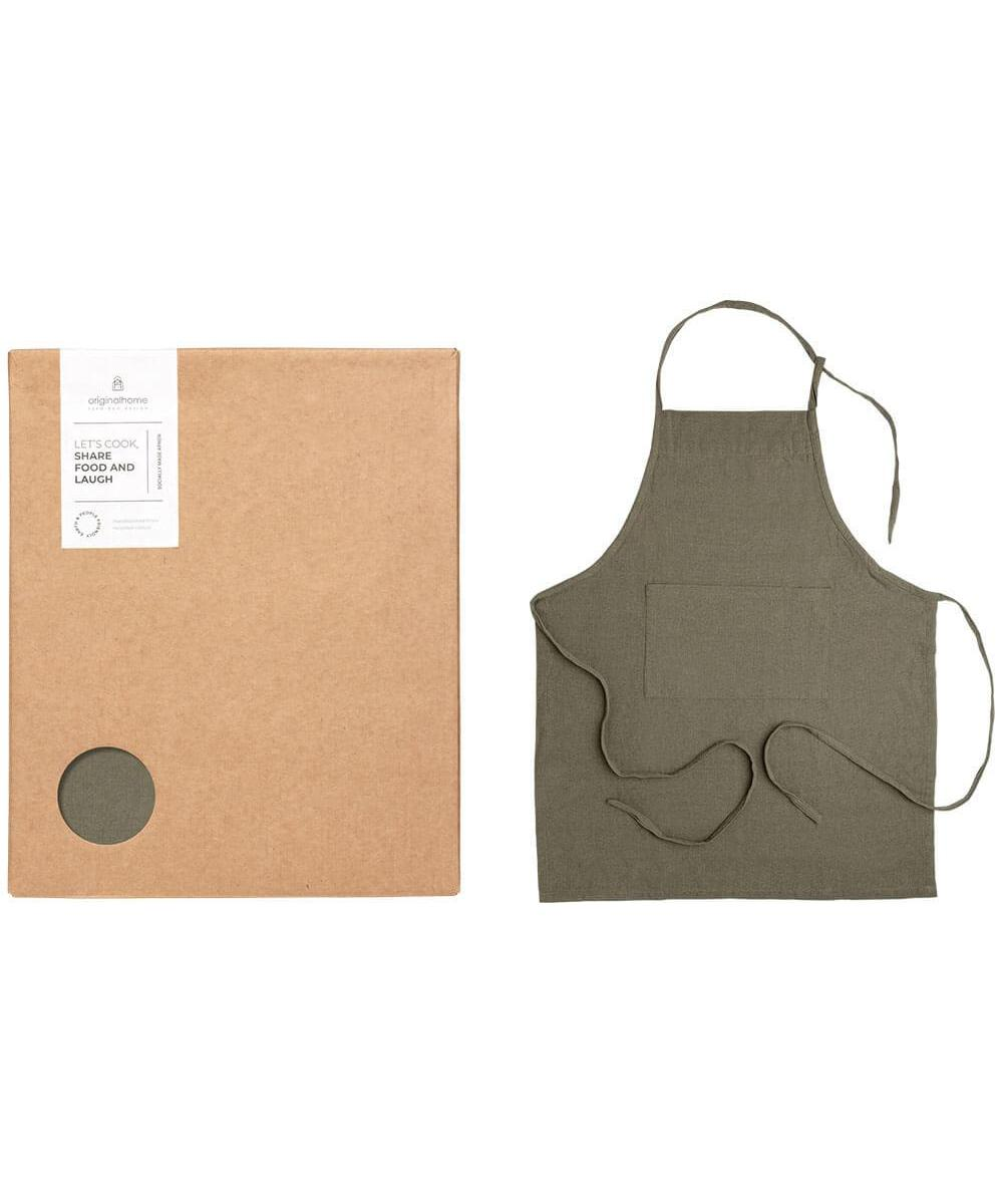 Original Home Apron Recycled Cotton Green