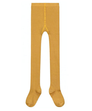 Gray Label Ribbed Tights Mustard