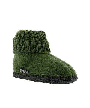 Bergstein Slofjes Cozy Forest Green