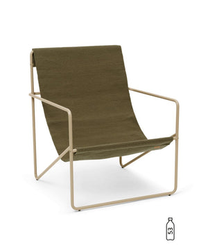 Ferm Living Desert Lounge Chair Cashmere/Olive