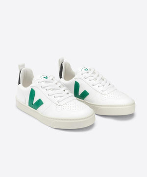 Veja V-10 Laces CWL White Emeraude Black