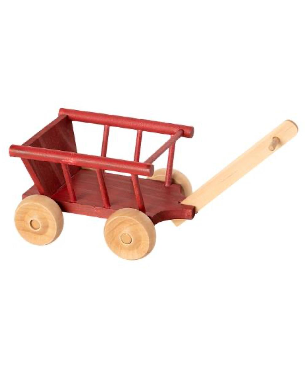 Maileg Wagon Micro Dusty Red