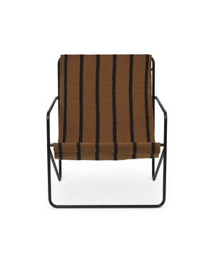 Ferm Living Desert Lounge Chair Black/Stripes