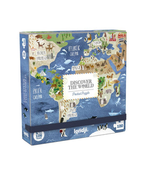 Londji Puzzel Pocket Discover the Worlds