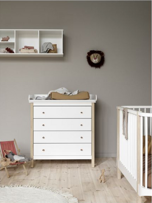 Oliver Furniture Oak 6 drawer changing table