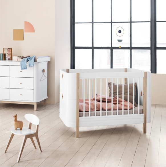Oliver Furniture Mini+ Ledikant/Bed White/Oak