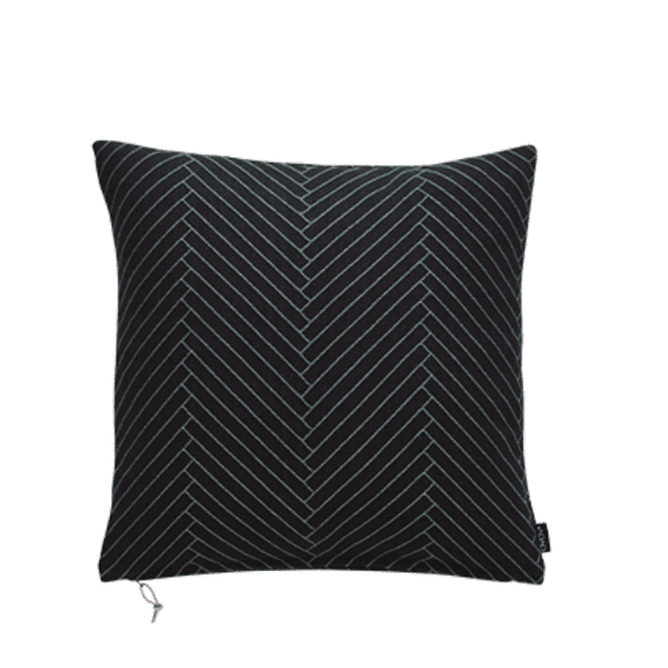 Fluffy Herringbone Black