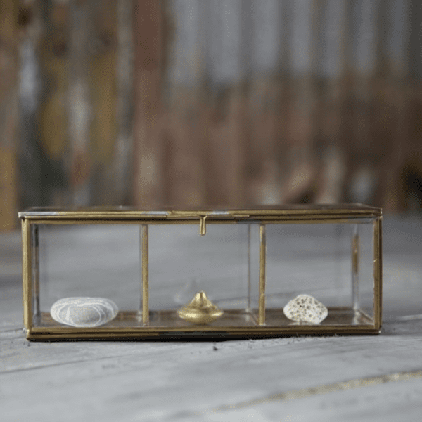 Nkuku Bequai Divider Box Antique Brass