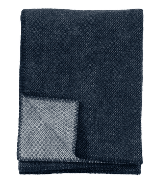 Klippan Wollen Deken Peak Dark Denim