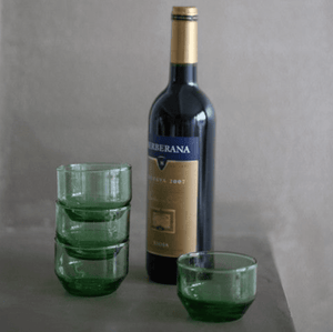Bottle Green Wineglass Flat