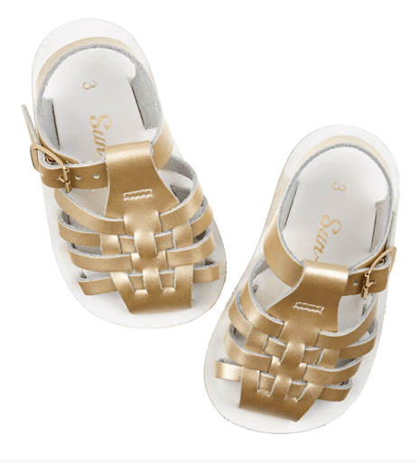 Salt-Water Sandals Toddler Sailor Gold