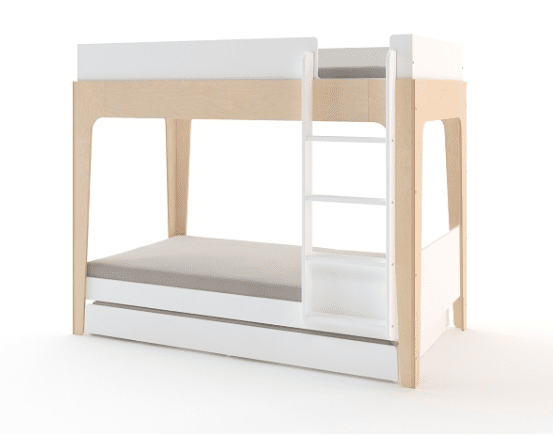 Oeuf Trundle Bed White uitschuifbed