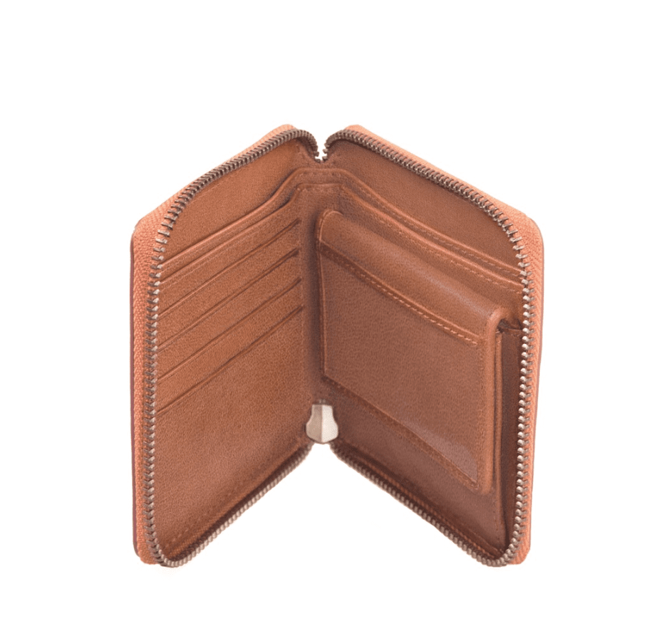 O My Bag Sonny Square Wallet cognac