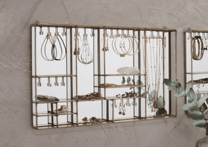 Bequai Wall Hung Jewellery Box Messing