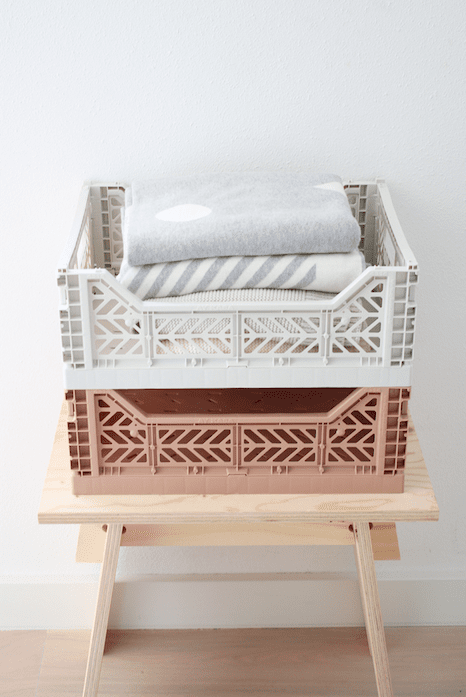 Folding Crate - Midi Warm Taupe