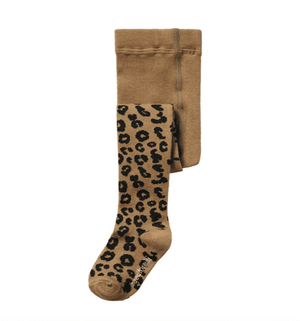 Brown Leopard Tights
