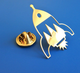 All Things We Like Rocket Golden Pin