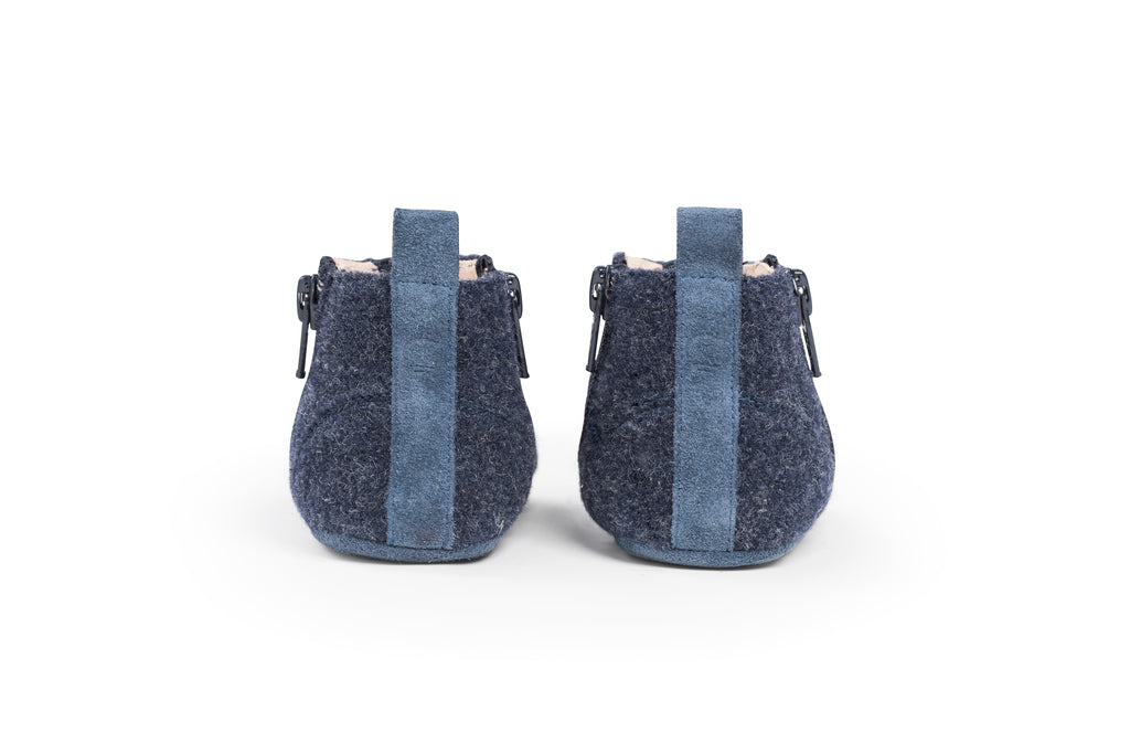 Dusq First Step Shoes Ocean Blue Wool