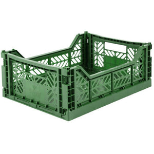 Folding Crate - Midi Dark Green