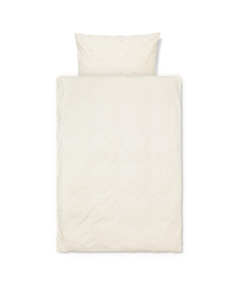 Ferm Living Bedlinnen Dot Embroidery Off White
