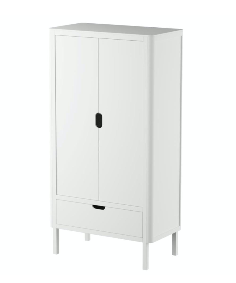 Sebra Wardrobe Double  Door White