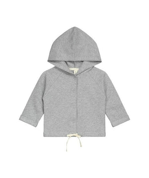 Gray Label Baby Hooded Cardigan Melange Grey