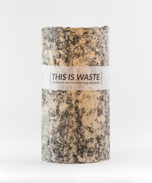 This Is Waste Recycled Vase Large Black