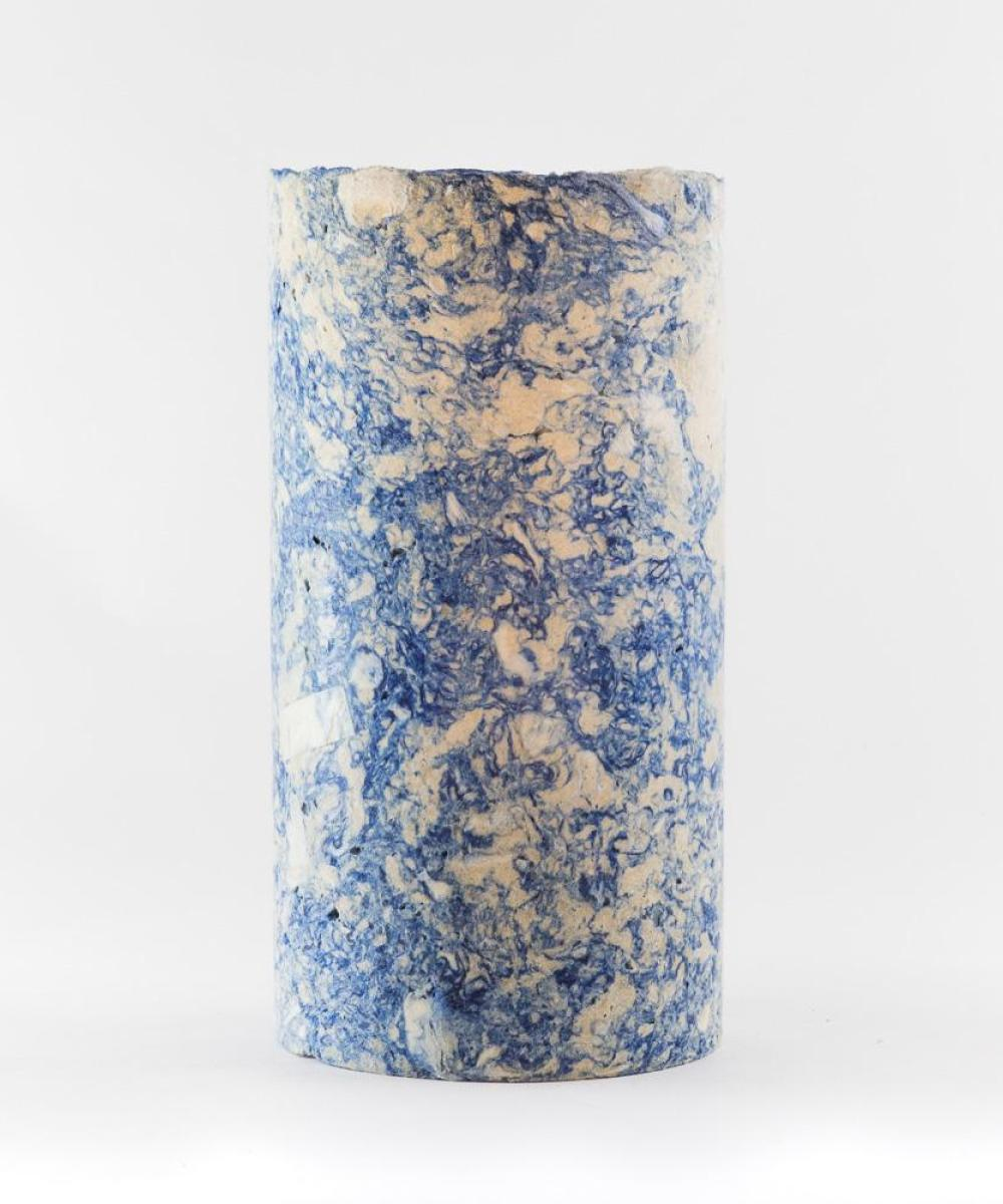 This Is Waste Recycled Vase Large Blue