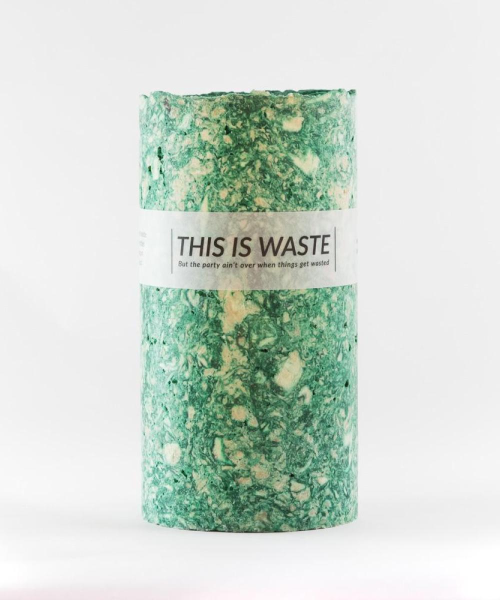 This Is Waste Recycled Vase Large Green
