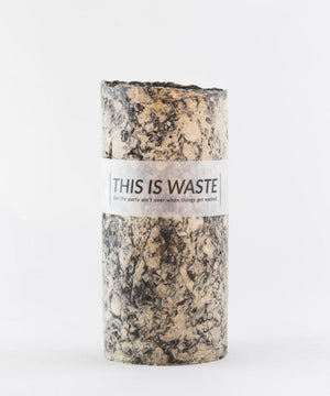 This Is Waste Recycled Vase Medium Black