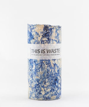 This Is Waste Recycled Vase Medium Blue