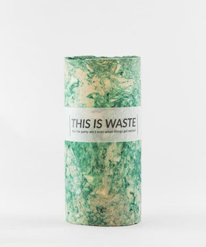 This Is Waste Recycled Vase Medium Green