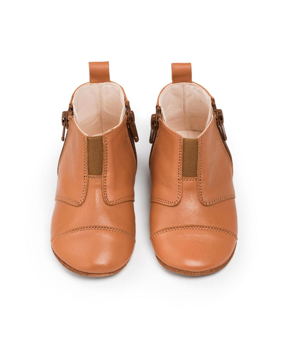 Dusq First Step Shoes Sunset Cognac Leather
