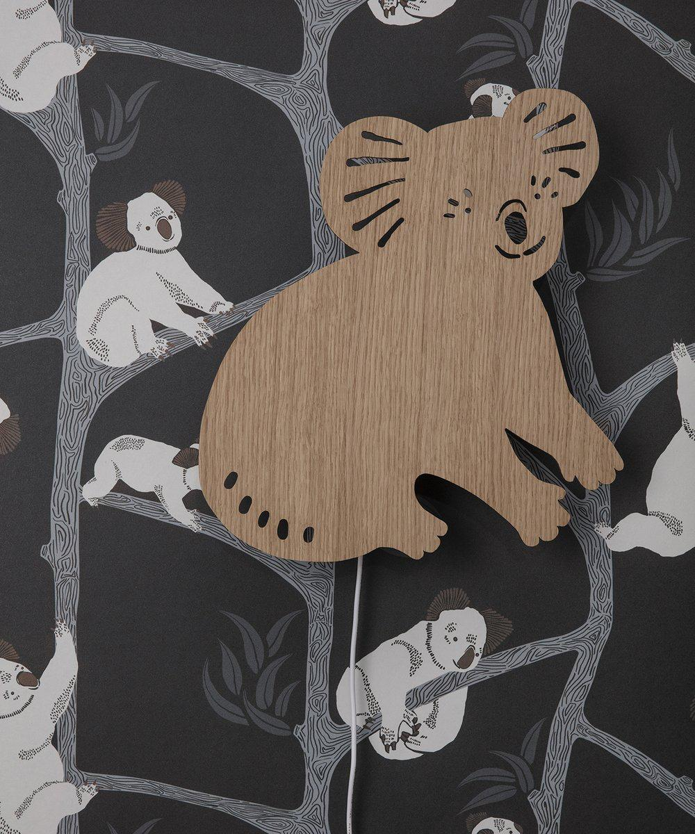 Ferm Living Behangpapier Koala Dark Green