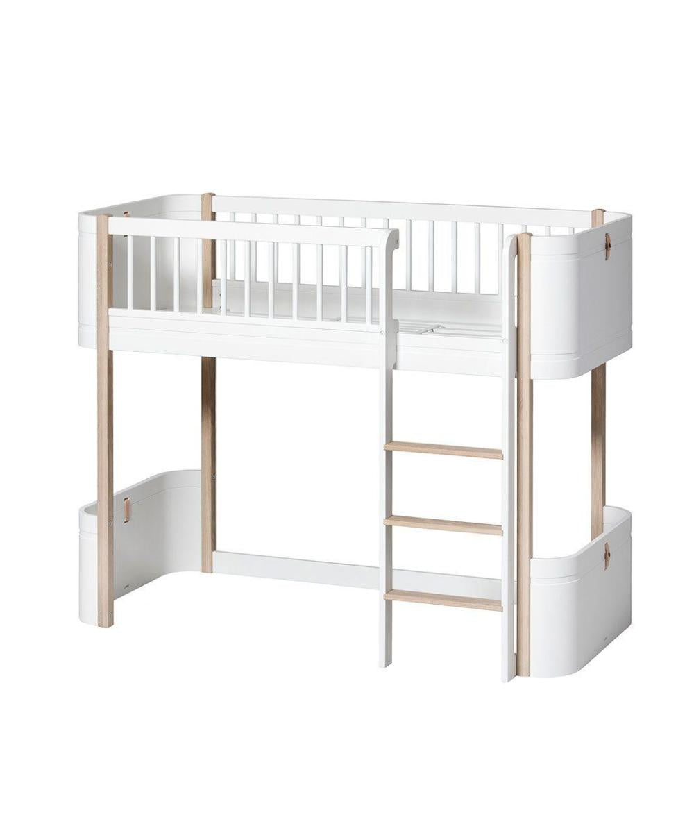 Oliver Furniture Mini+ Junior Halfhoogslaper White/Oak