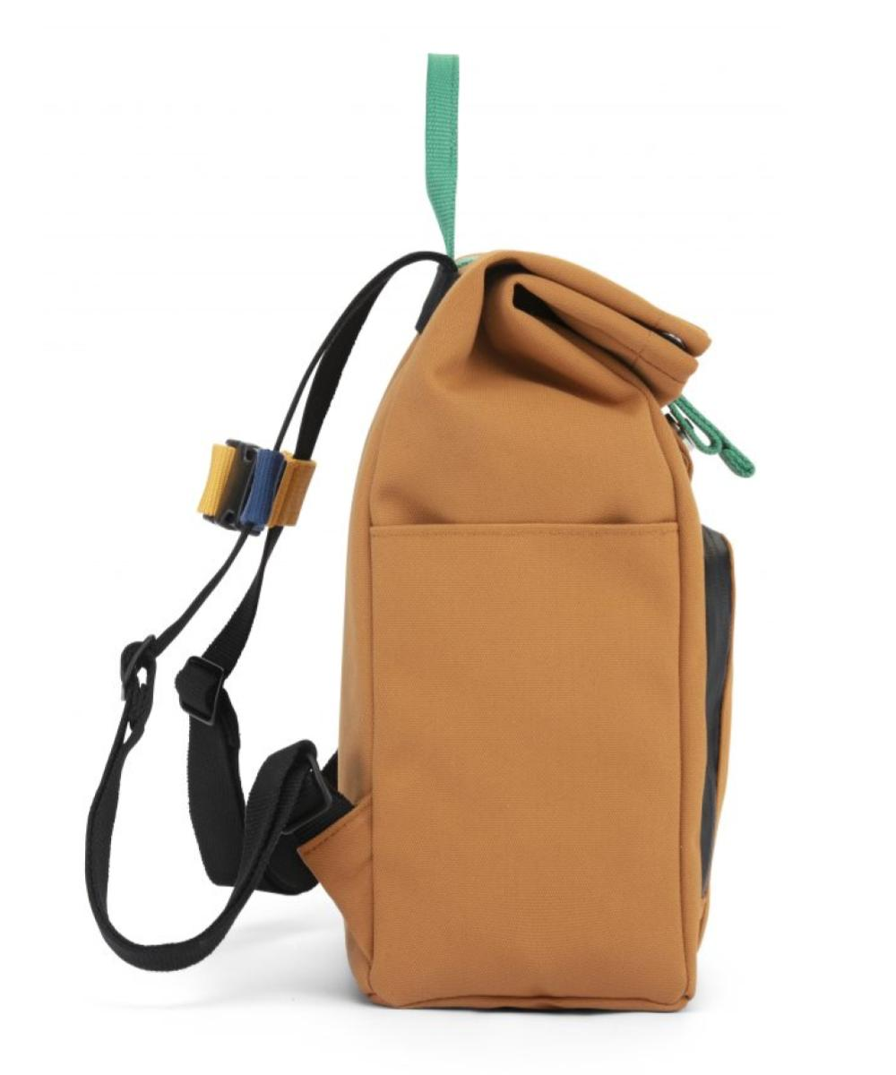 Dusq Mini Bag Canvas - Sunset Cognac & Forest Green