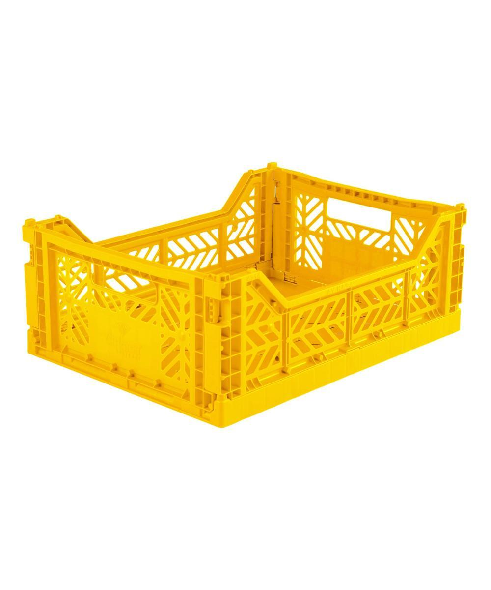 Aykasa Folding Crate - Midi Yellow