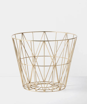 Ferm Living Draadmand Brass Large