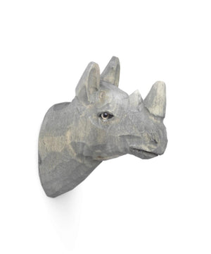 Ferm Living Animal Hand-Carved Hook Neushoorn
